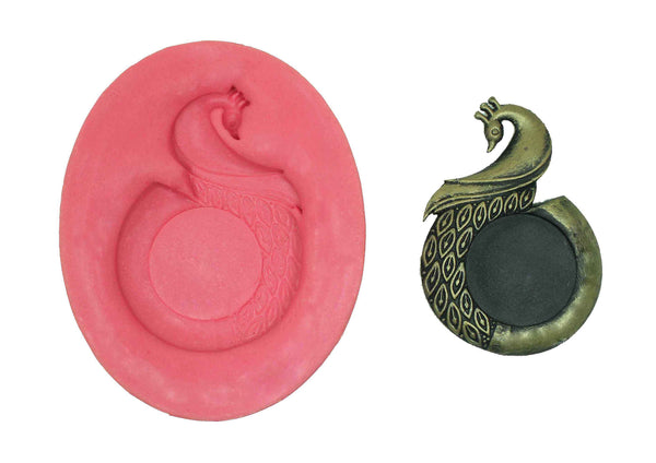 Glorious Peacock Bird Mould - Claysphere