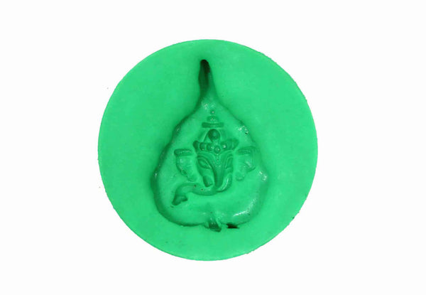 Ganesha Pate in Leaf Temple Mould - Claysphere