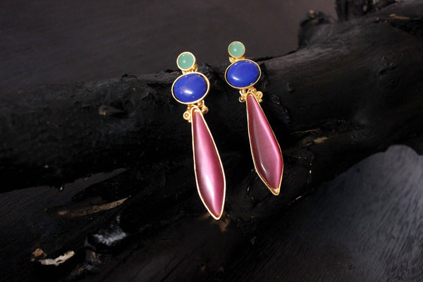 Ripple of Love Semi-Precious Earrings
