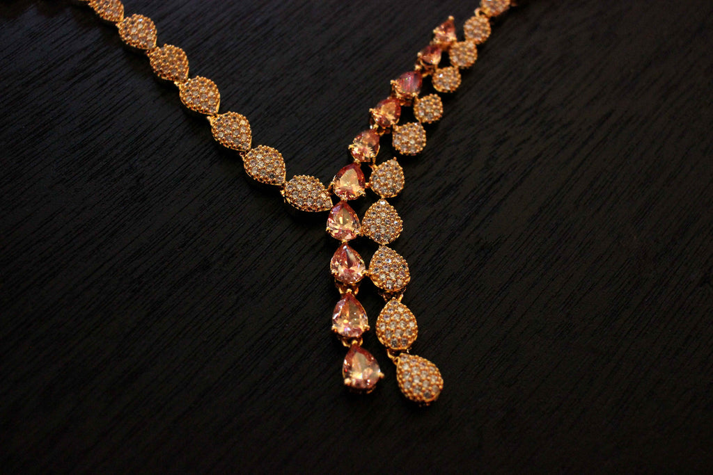 diamond jewelry semi n oro new rose necklace diamante products our precious gold y featuring fine necklaces by