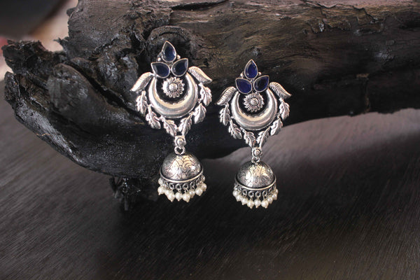 Opulent Design German Silver Earrings - Claysphere