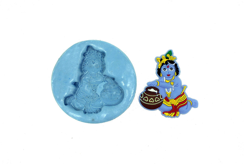 Divine Child Krishna Temple Mould - Claysphere