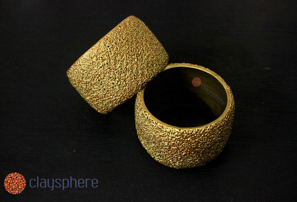 Golden Kada Terracotta Bangle - Claysphere