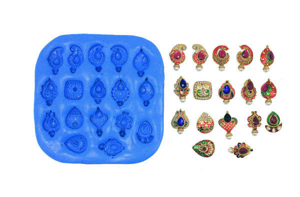 Ethnic Designers Studs Mould pad - Claysphere
