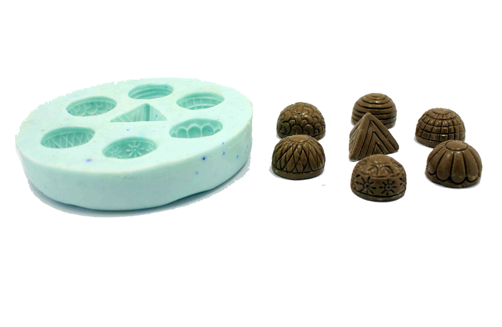 Big Size Patterned Jhumka Mould Pad - Claysphere