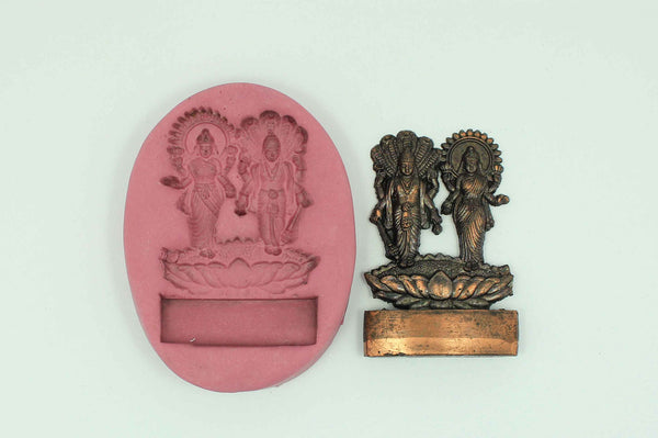 Lord Vishnu and Lakshmi Temple Mould - Claysphere