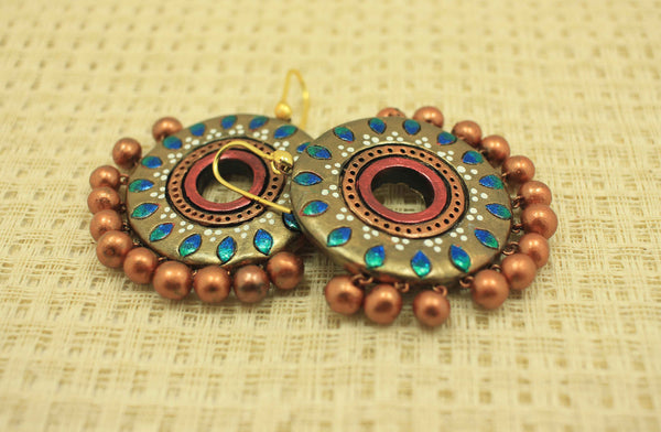 Diva dangler terracotta earrings - Claysphere