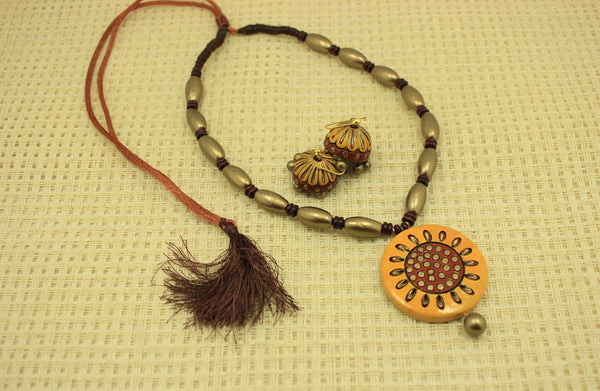 Blossom flower terracotta jewellery set - Claysphere
