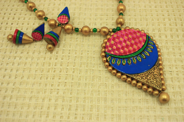 Luxotic designer terracotta jewellery set - Claysphere