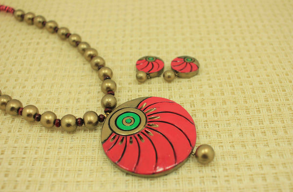 Opulent daily-wear terracotta jewellery set - Claysphere