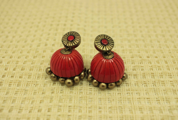 Tempting terracotta jhumka - Claysphere