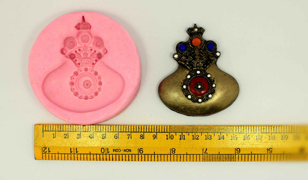 Queens Crown Pendant Mould - Claysphere