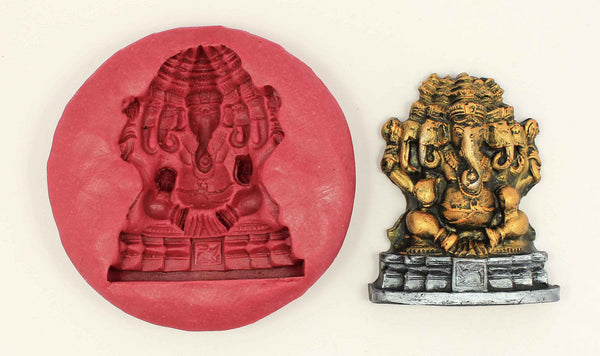Panjamukha Vinayaka Temple Mould - Claysphere