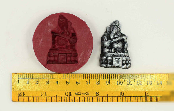 Veena Ganapati Temple Mould - Claysphere
