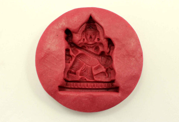 Graceful Saraswati Temple Mould - Claysphere