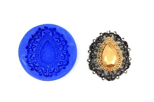 Diamond Spring Pendant Mould - Claysphere