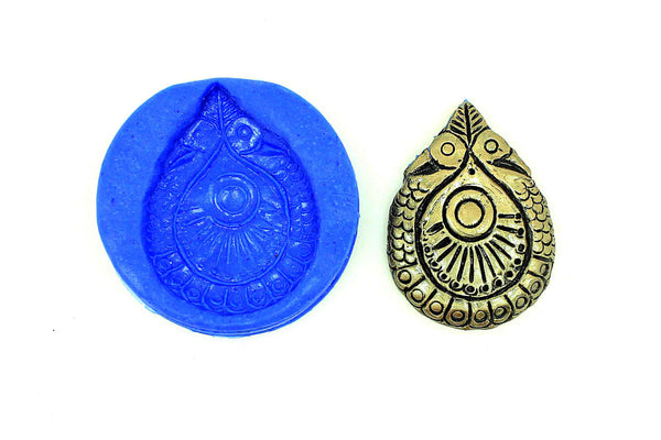 Mayoora Tear Drop Pendant Temple Mould - Claysphere