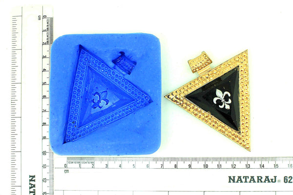Triangle Design Pendant Mould - Claysphere