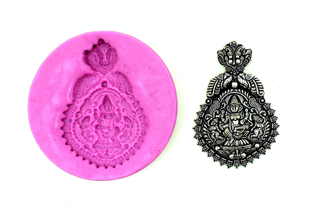 Maaya Mayoora Lakshmi Pendant Temple Mould - Claysphere
