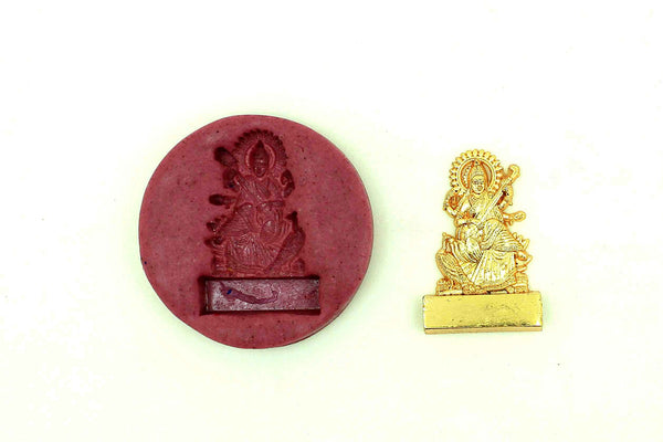 Blissful Saraswati Temple Mould - Claysphere