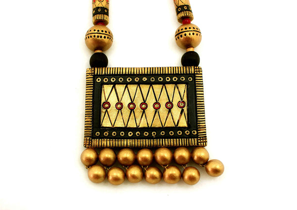 Traditional Dazzling Terracotta Jewellery Set (Rich Gold) - Claysphere