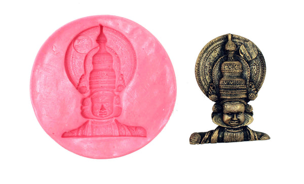 Kathakali -Athbhutha (wonder) Temple Mould - Claysphere