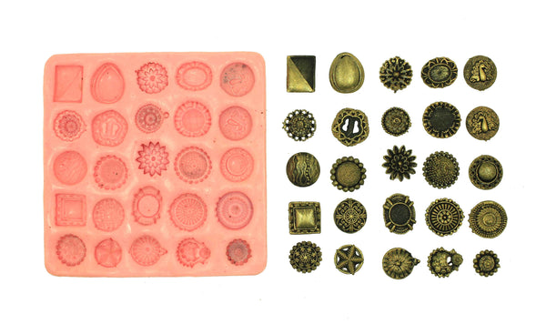 Exotic Designer Studs Mould Pad - Claysphere