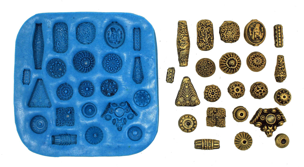 Gheru Pattern Beads Mould Pad - Claysphere