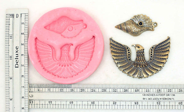 Garuda Spreading Wings Pendant Bird Mould - Claysphere