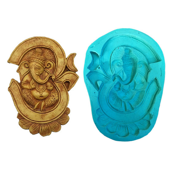 Om Ganesha Big Size Idol Mould - Claysphere