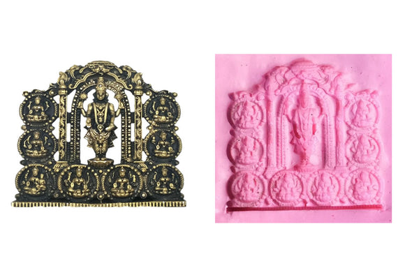 Vishnu Ashtalakshmi Temple Mould - Claysphere