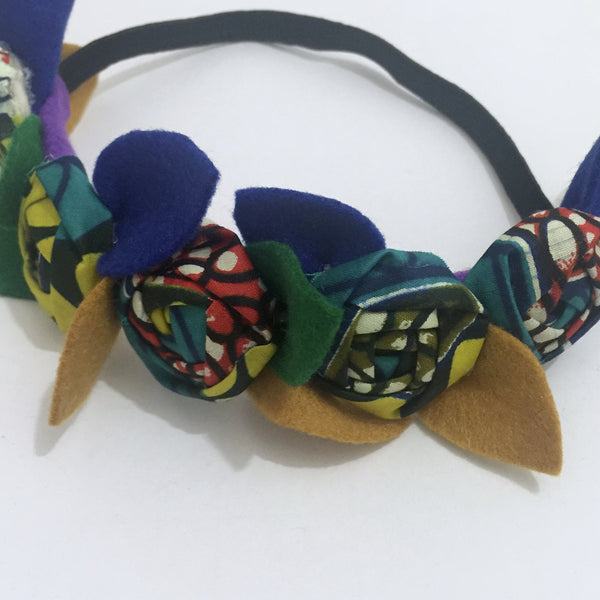 Ankara Flower Crown