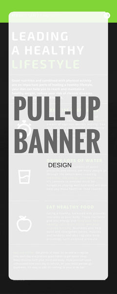 850 x 2000mm pull-up banner