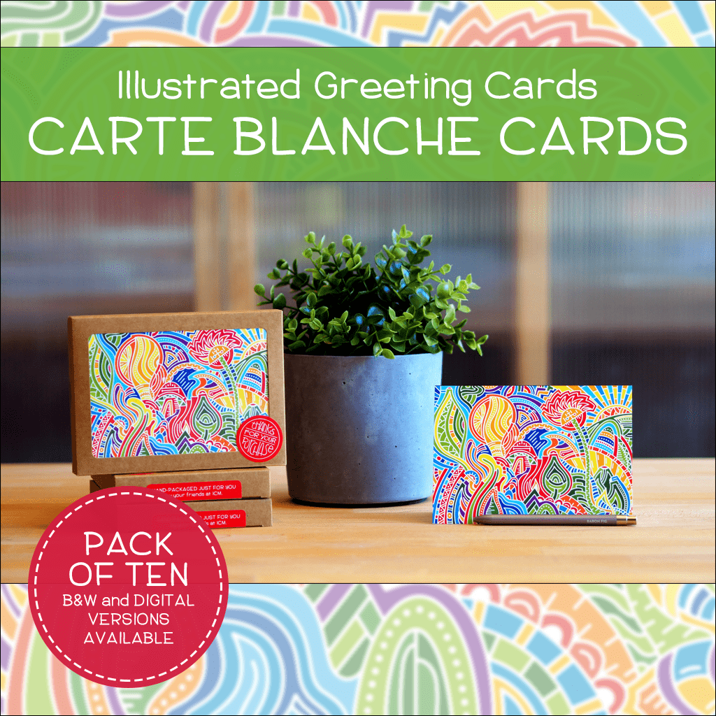 Carte blanche greeting cards