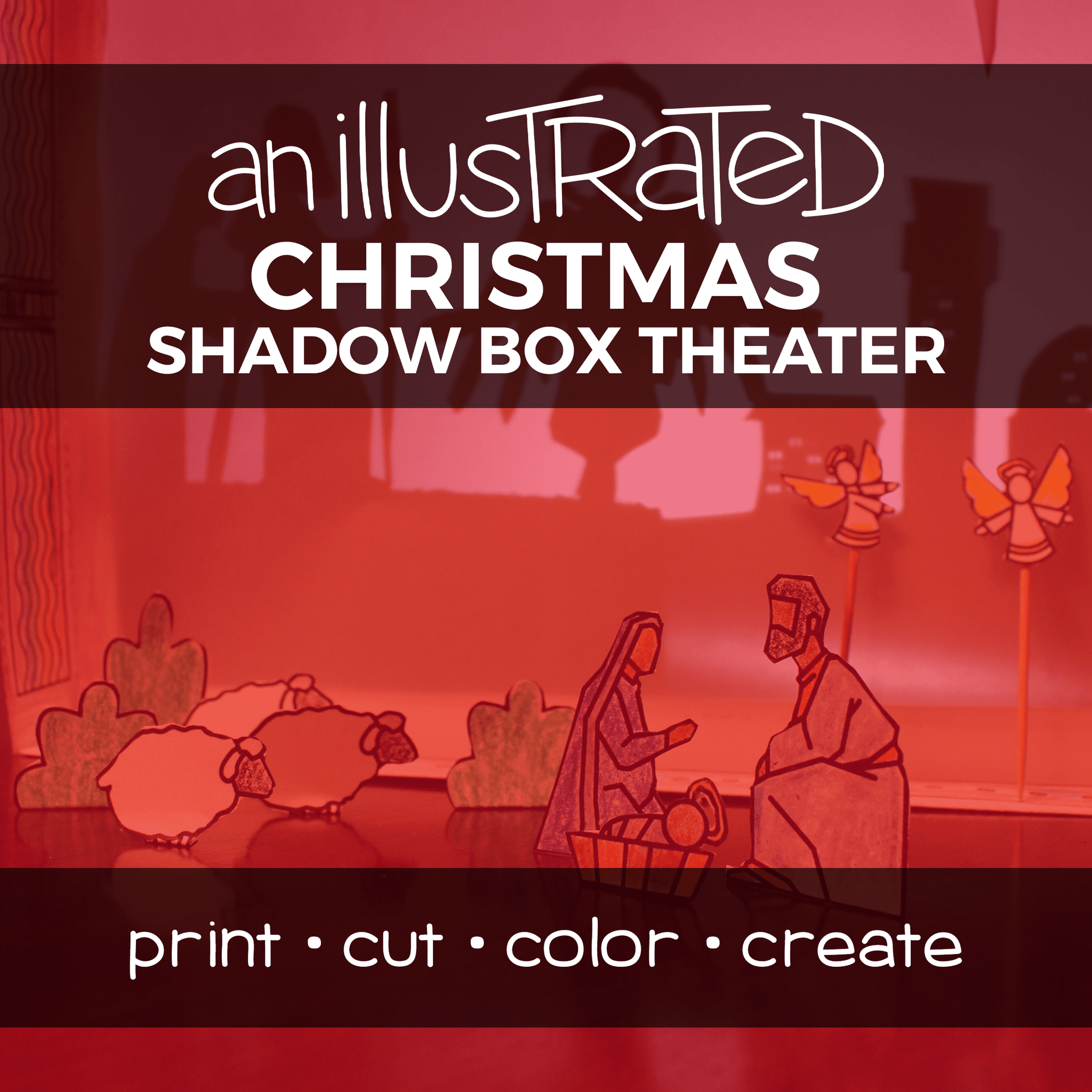 An Illustrated Christmas Shadow Box Theater