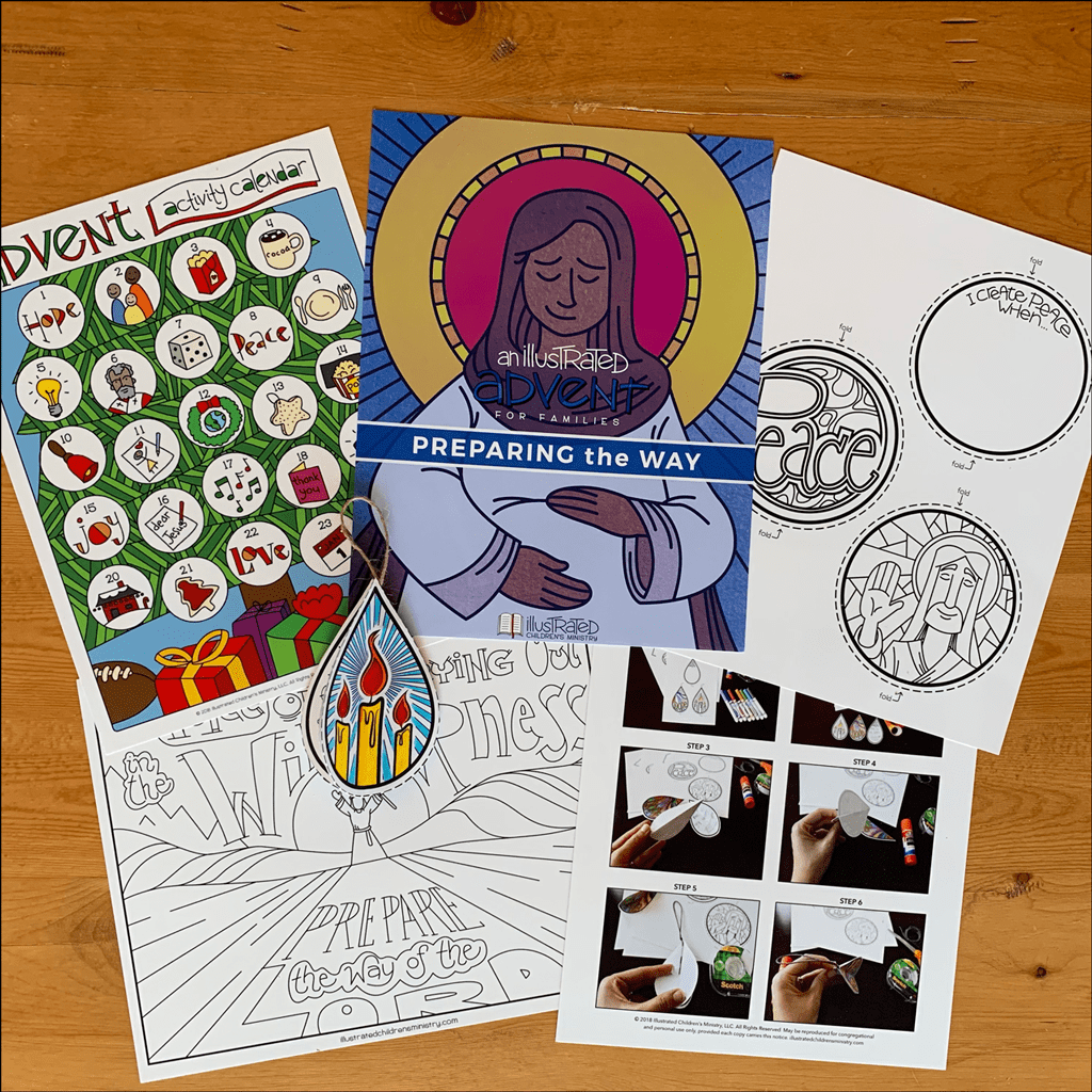 An Illustrated Advent for Families: Preparing the Way Devotional Guide