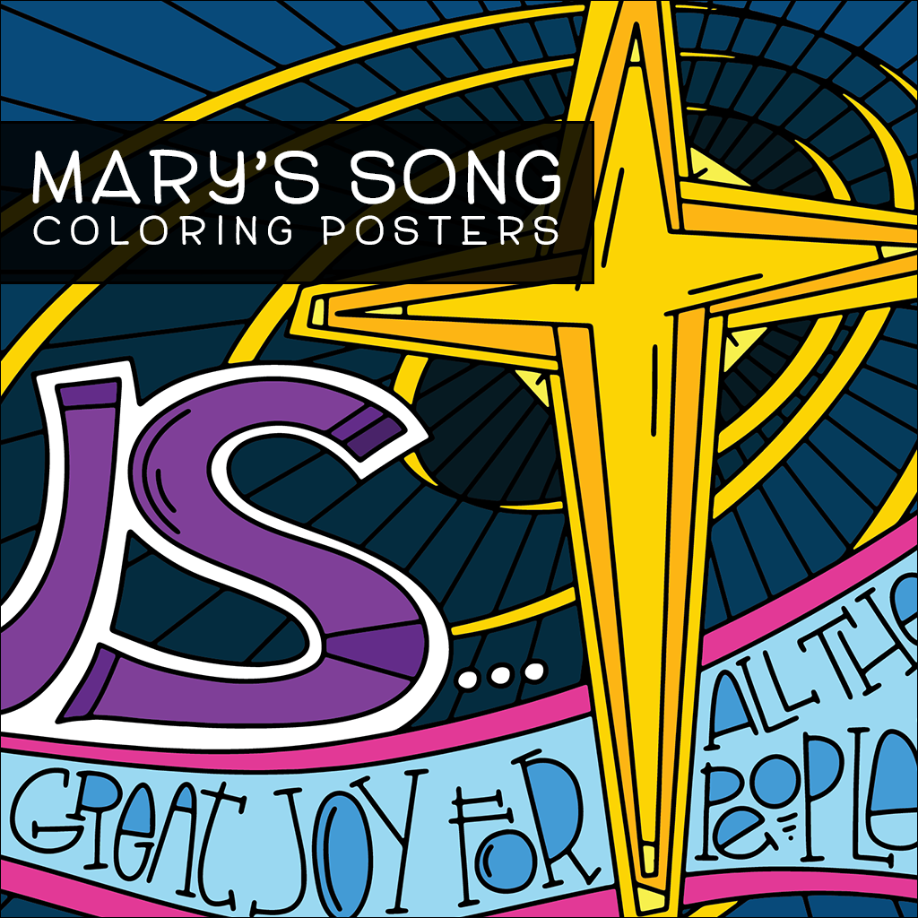 Mary's Song Coloring Posters
