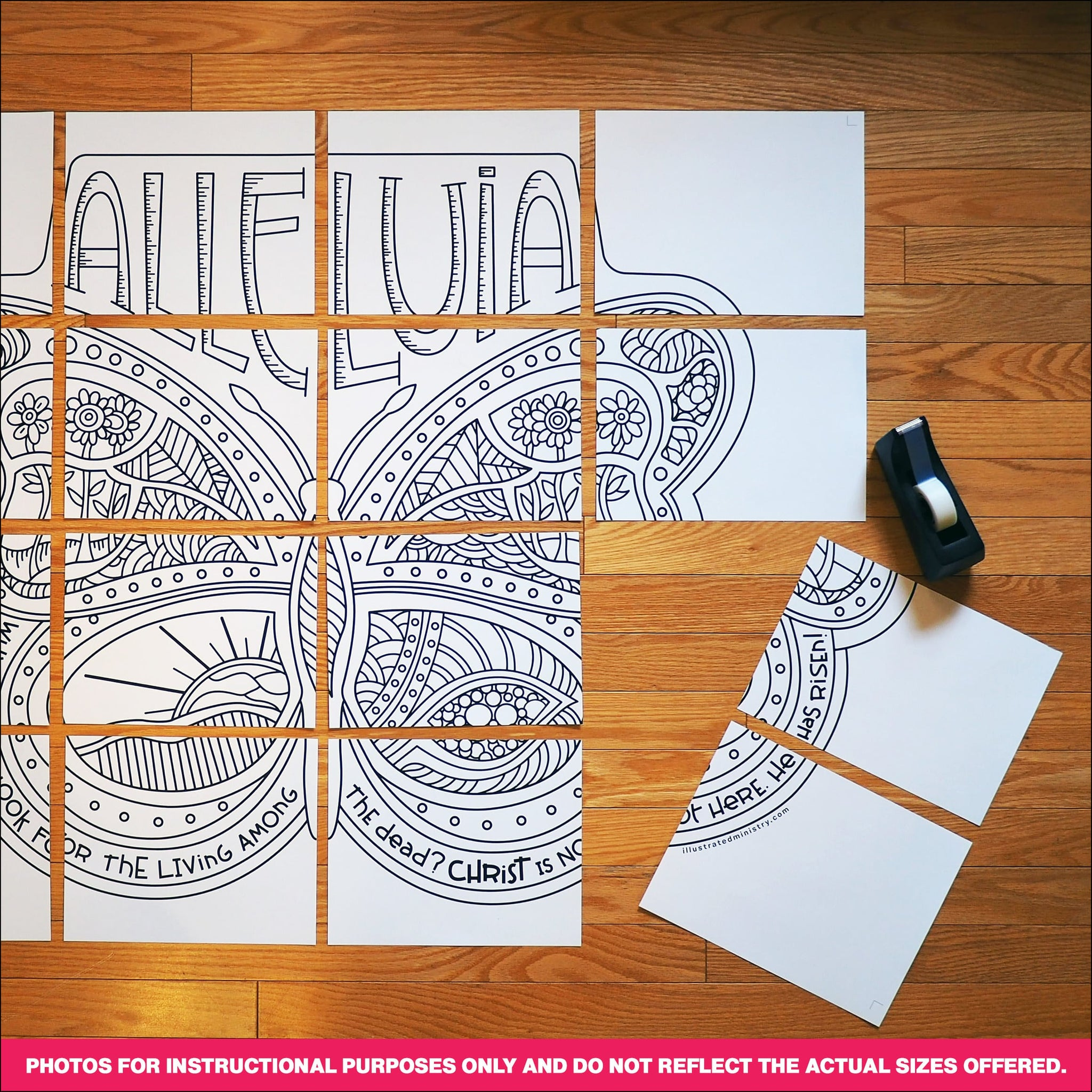 Alleluia Butterfly Coloring Page & Poster