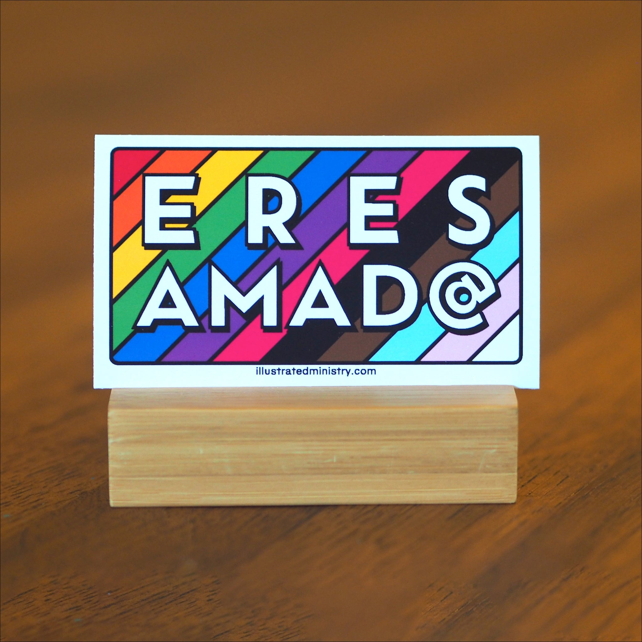 """Eres Amad@"" Backpack Tags"