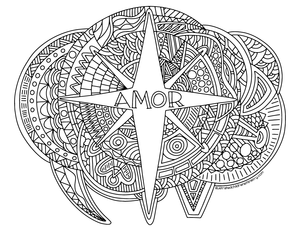 Advent Coloring Pages - Amor