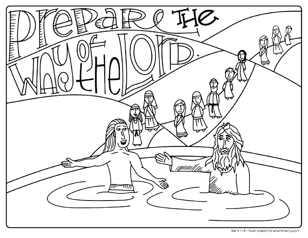 Bible Story Coloring Pages: Winter 2017-2018