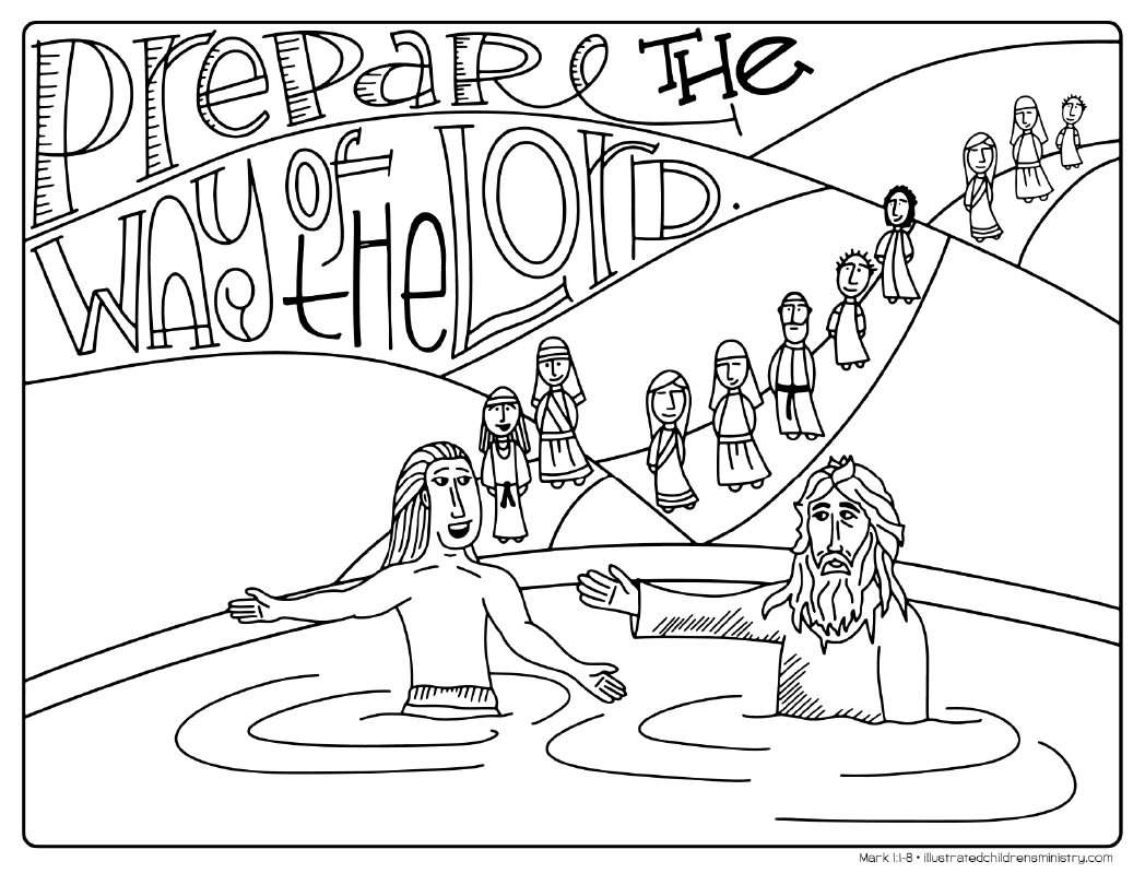 """Prepare the way of the Lord"" coloring page"