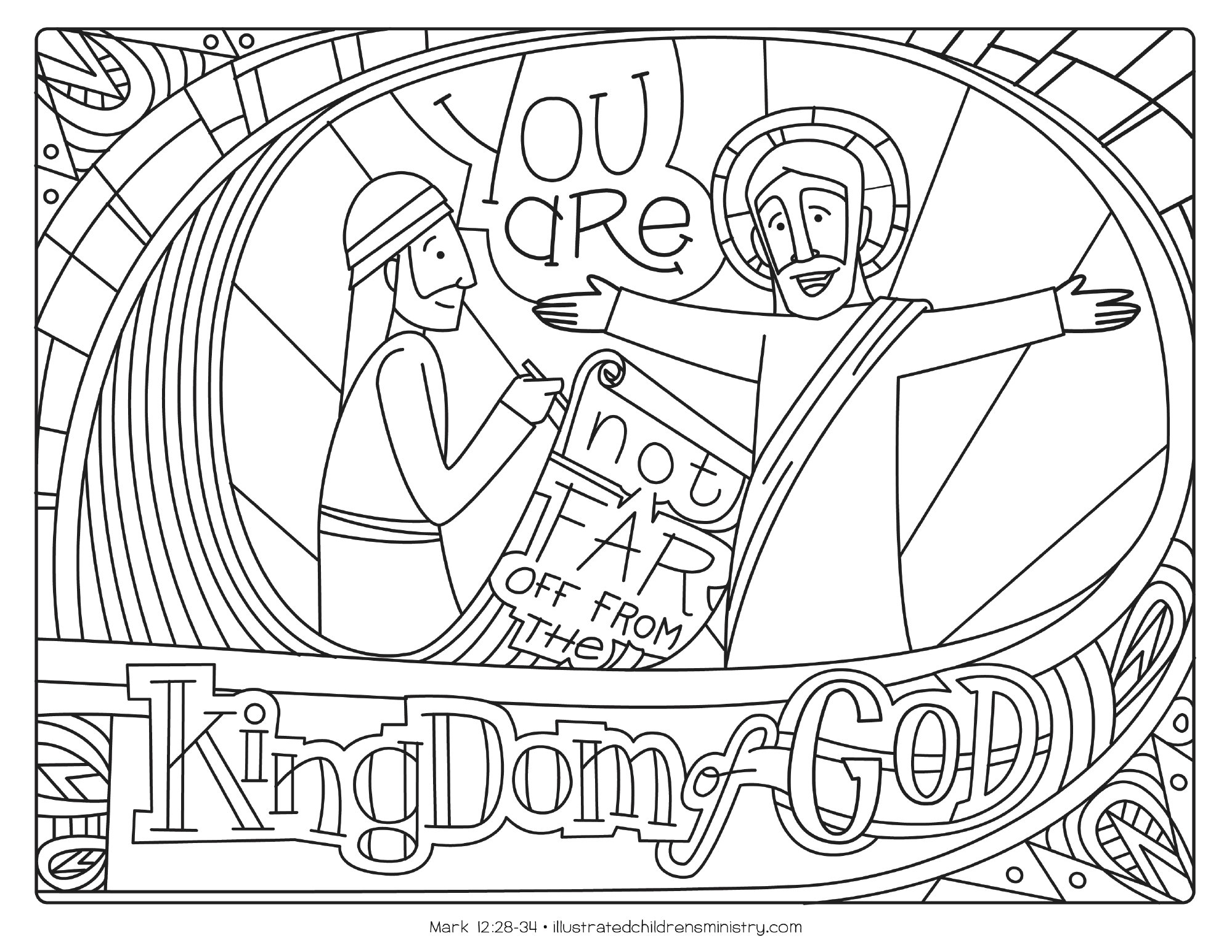 Bible Story Coloring Pages: Fall Worship Resource