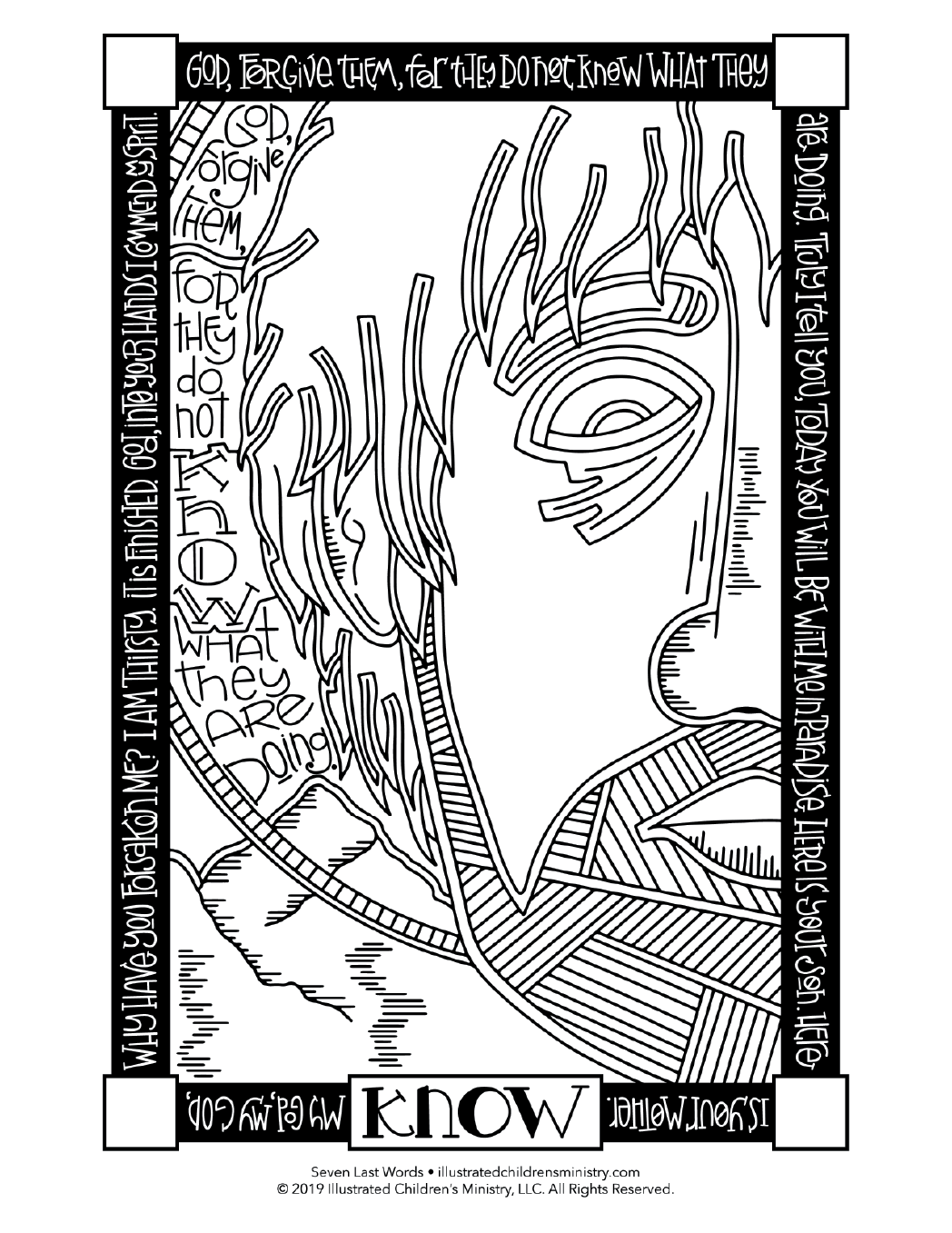 Seven Last Words coloring page - Know