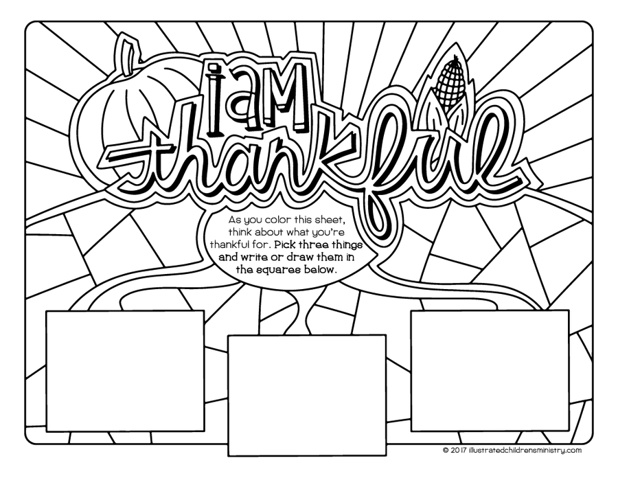 I am Thankful Coloring Pages