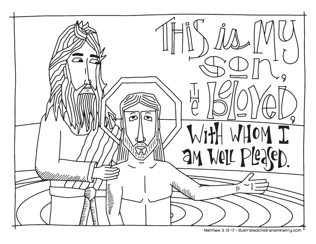 Bible Story Coloring Pages: Winter 2016-2017