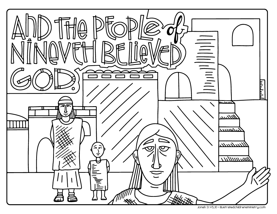 Nineveh story coloring page