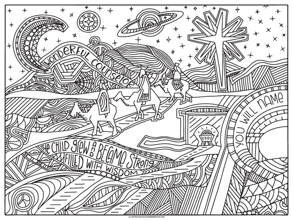 advent coloring pages for adults - photo#14