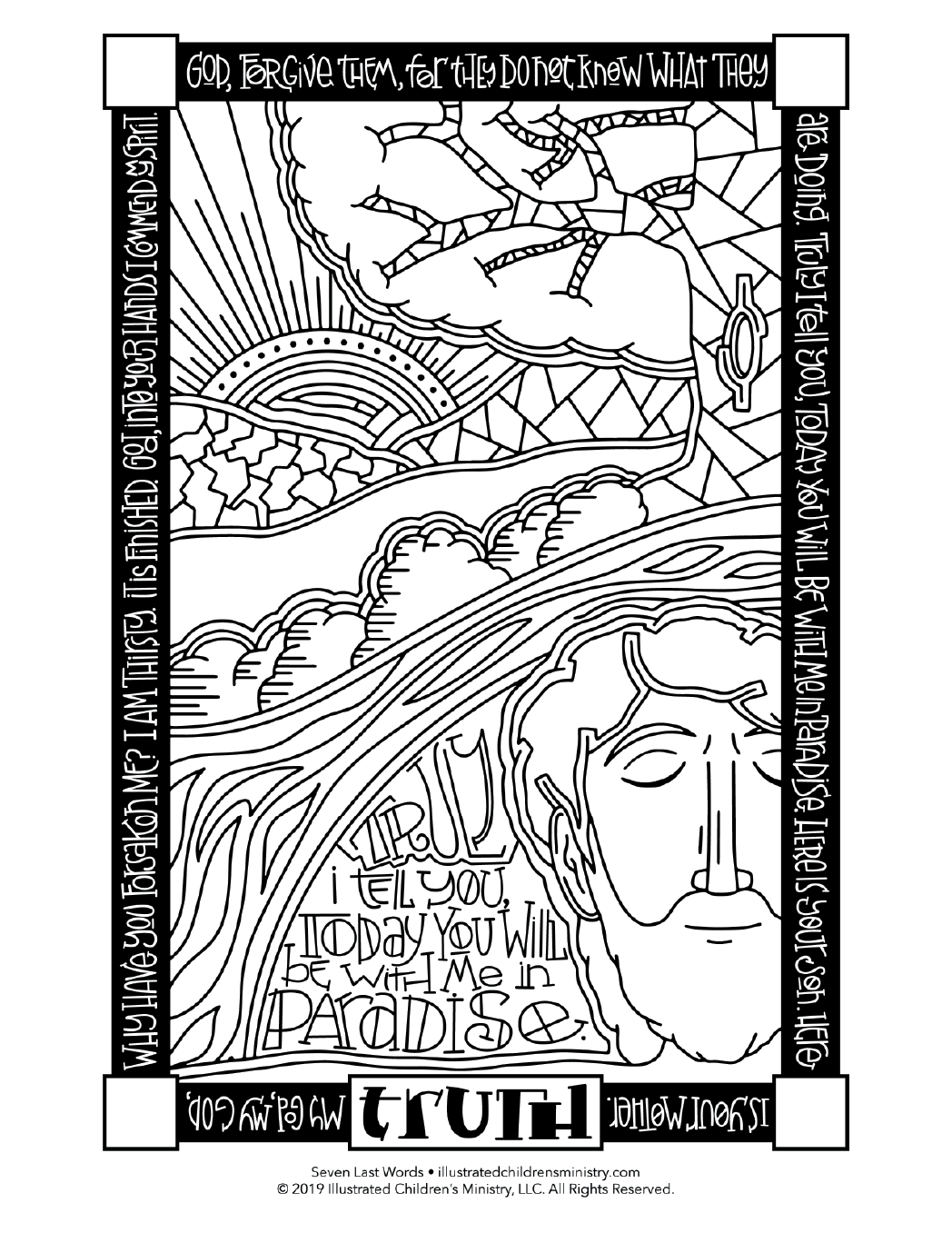 Seven Last Words coloring page - Truth