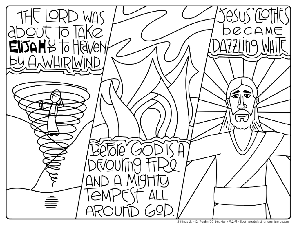 Bible Story Coloring Pages: Winter 2017-2018 – Illustrated ...